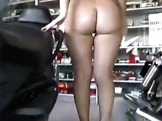 Beautiful Czech Gal In Showroom