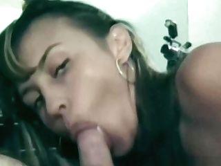 Dark-haired Firsttimer Fellates Jizz-shotgun In Retro Pornography