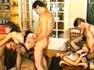 Two Cocky Deviants Amuse With Amoral Whores In Black Stockings