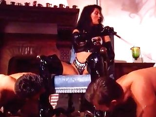Honey In Pvc Hip High Boots And Gloves Anal Invasion Spitroast