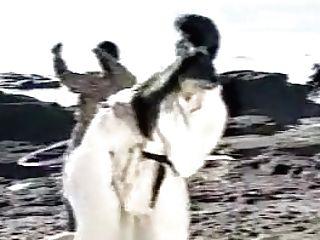 Weird Retro Japanese Pornography. Huge-titted Karate Lesboy (bad Audio)
