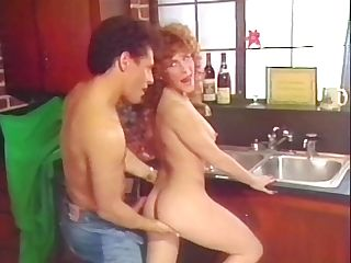 Sex-positive Black-haired Fucked In Kitchen